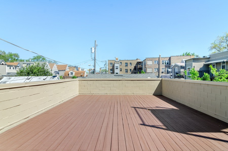 Real Estate Photography - 3104 N Kimball, Unit 2N, Chicago, IL, 60618 - Roof Deck