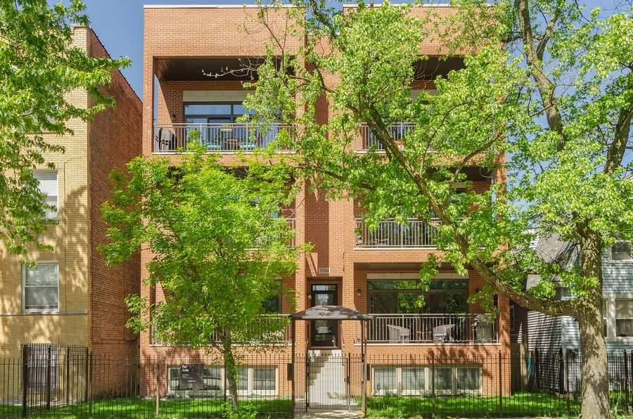 Real Estate Photography - 3104 N Kimball, Unit 2N, Chicago, IL, 60618 - Front View
