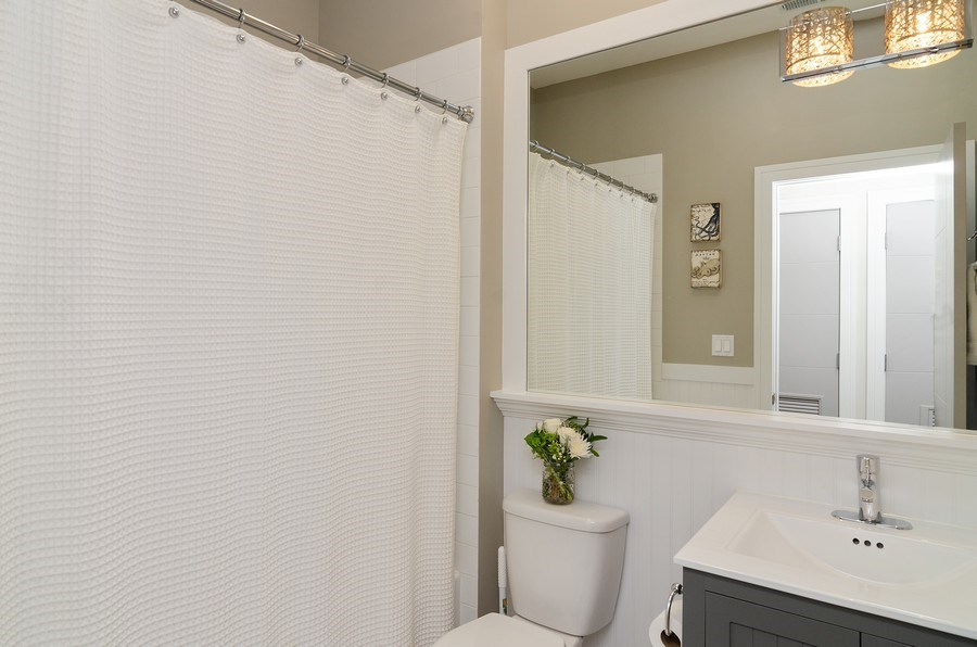 Real Estate Photography - 3104 N Kimball, Unit 2N, Chicago, IL, 60618 - Bathroom