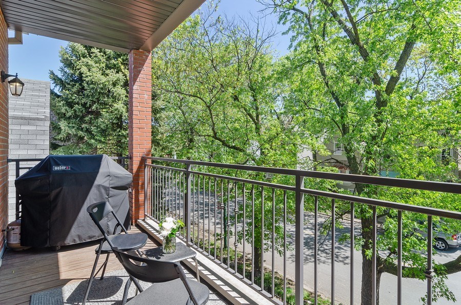 Real Estate Photography - 3104 N Kimball, Unit 2N, Chicago, IL, 60618 - Balcony