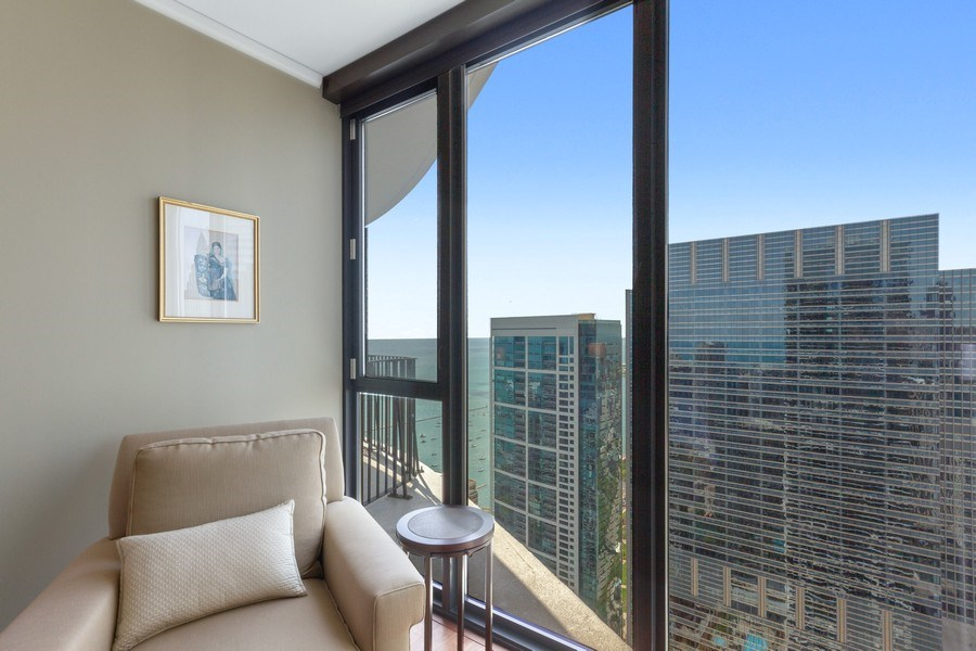 Real Estate Photography - 225 N Columbus Dr, Unit 6708, Chicago, IL, 60601 - Master Bedroom