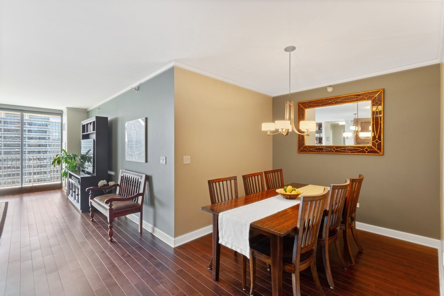 Real Estate Photography - 225 N Columbus Dr, Unit 6708, Chicago, IL, 60601 - Dining Area