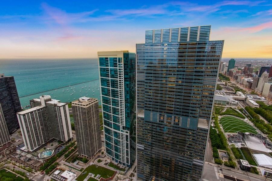 Real Estate Photography - 225 N Columbus Dr, Unit 6708, Chicago, IL, 60601 - Deck