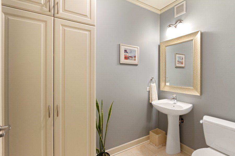 Real Estate Photography - 225 N Columbus Dr, Unit 6708, Chicago, IL, 60601 - Bathroom