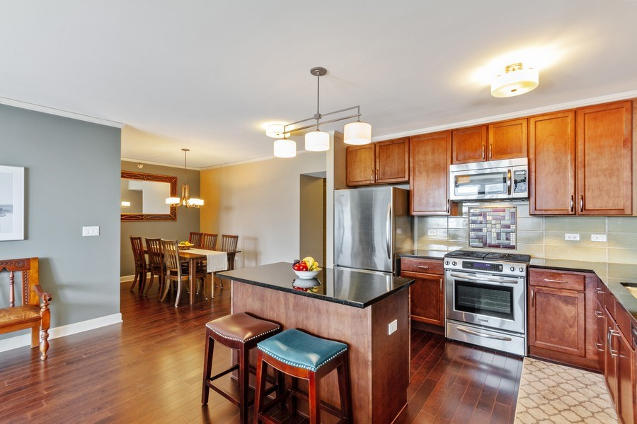 Real Estate Photography - 225 N Columbus Dr, Unit 6708, Chicago, IL, 60601 - Kitchen / Dining Room