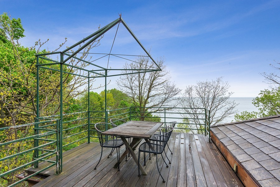 Real Estate Photography - 15492 Lakeshore, Lakeside, MI, 49116 - Roof Deck