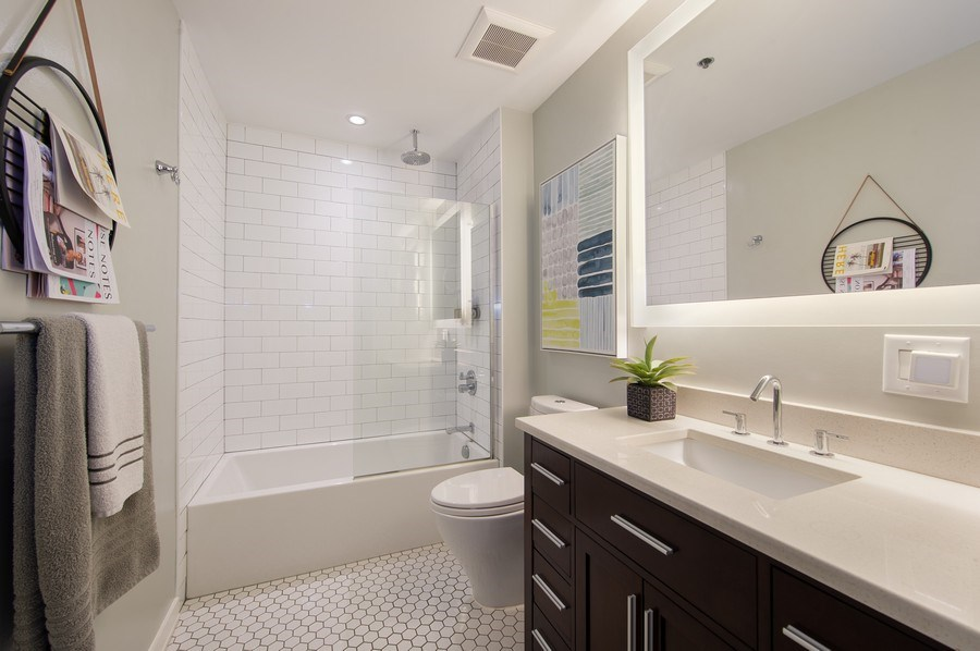 Real Estate Photography - 420 W. Grand Ave., #5B, Chicago, IL, 60654 - Master Bathroom