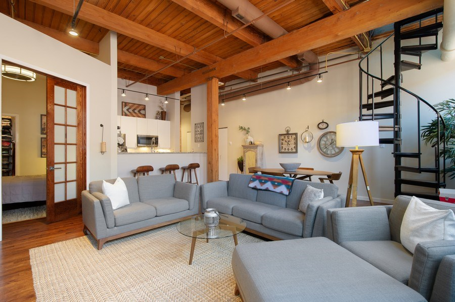 Real Estate Photography - 420 W. Grand Ave., #5B, Chicago, IL, 60654 - Living Room