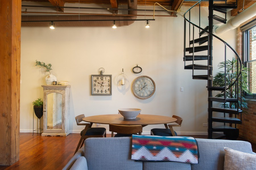 Real Estate Photography - 420 W. Grand Ave., #5B, Chicago, IL, 60654 - Living Room/Dining Room