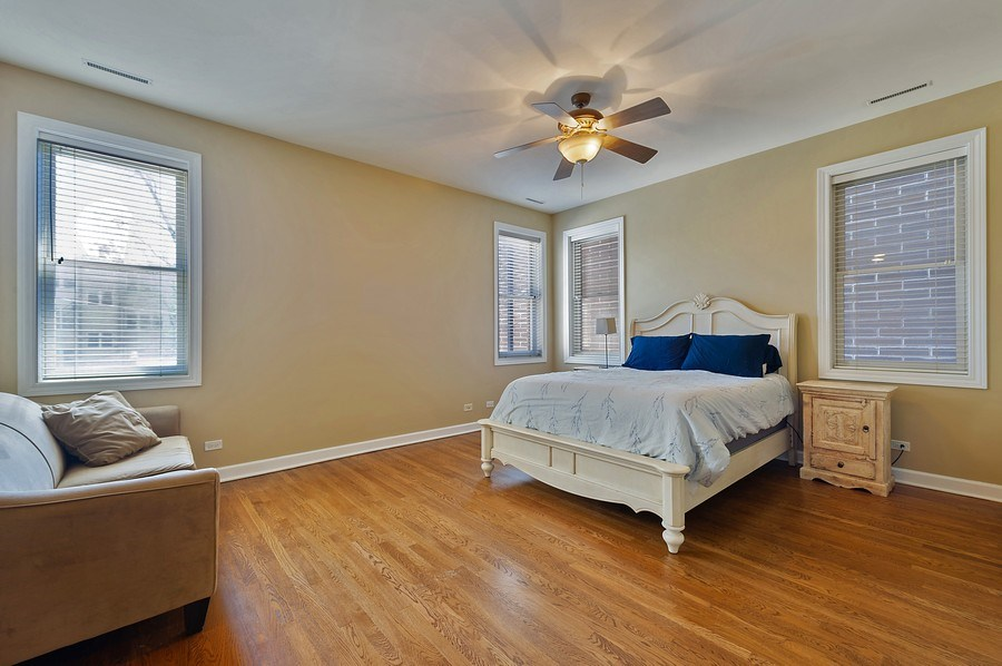 Real Estate Photography - 4821 N. Damen #2, Chicago, IL, 60625 - Master Bedroom