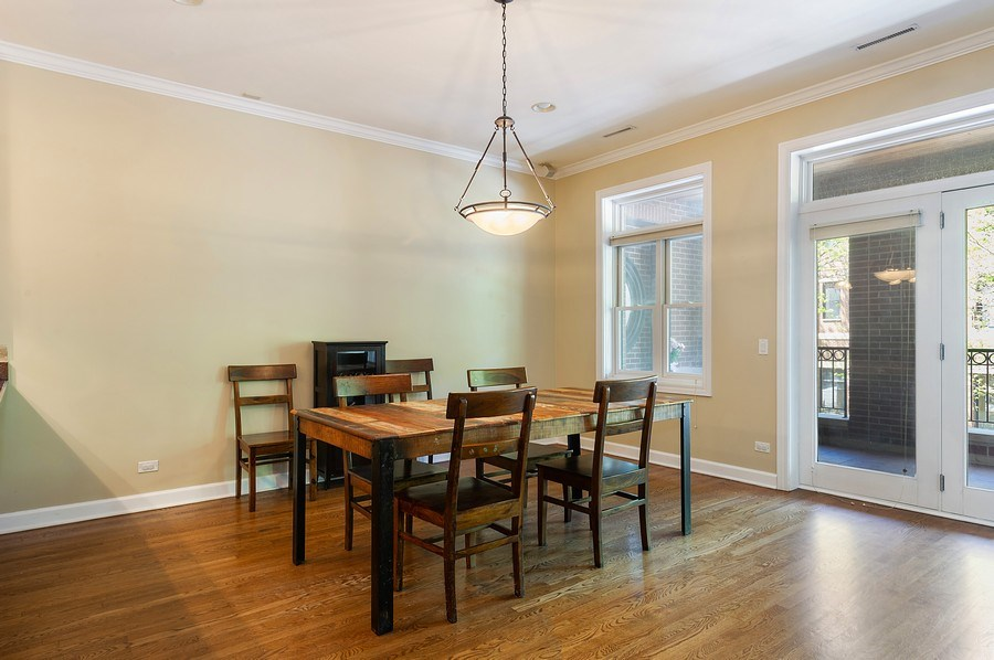 Real Estate Photography - 4821 N. Damen #2, Chicago, IL, 60625 - Dining Room