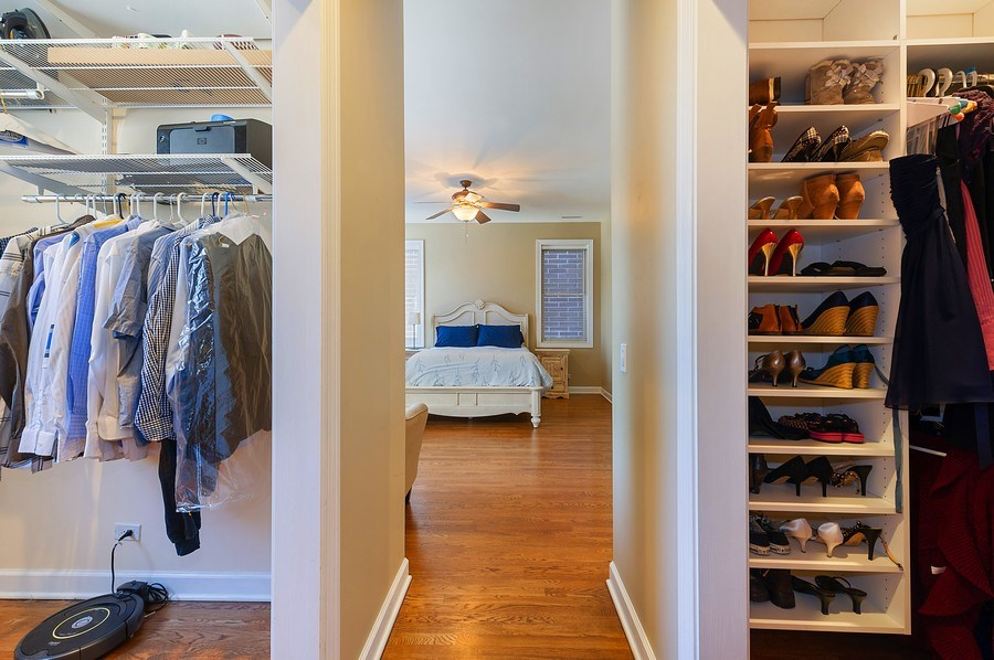Real Estate Photography - 4821 N. Damen #2, Chicago, IL, 60625 - Dual Master Bedroom Closets