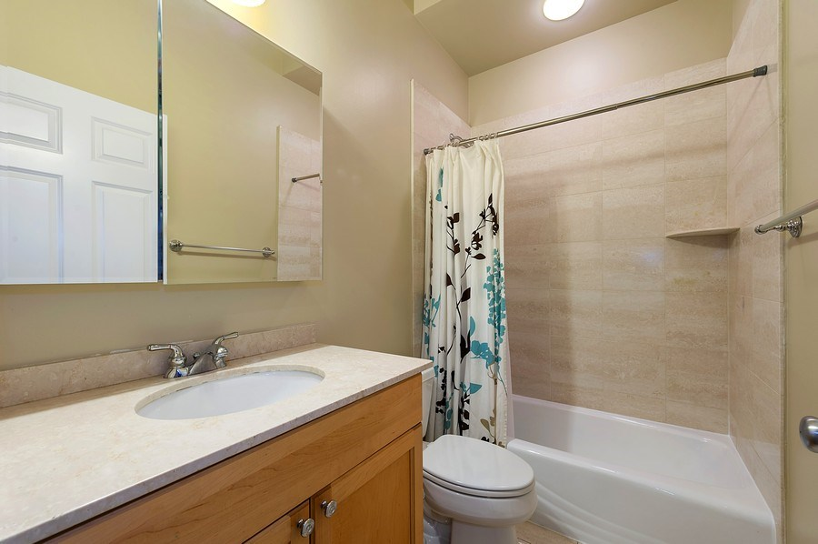 Real Estate Photography - 4821 N. Damen #2, Chicago, IL, 60625 - Second Bathroom