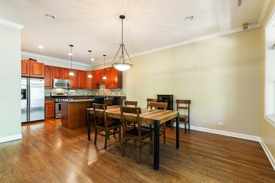 Real Estate Photography - 4821 N. Damen #2, Chicago, IL, 60625 - Kitchen / Dining Room