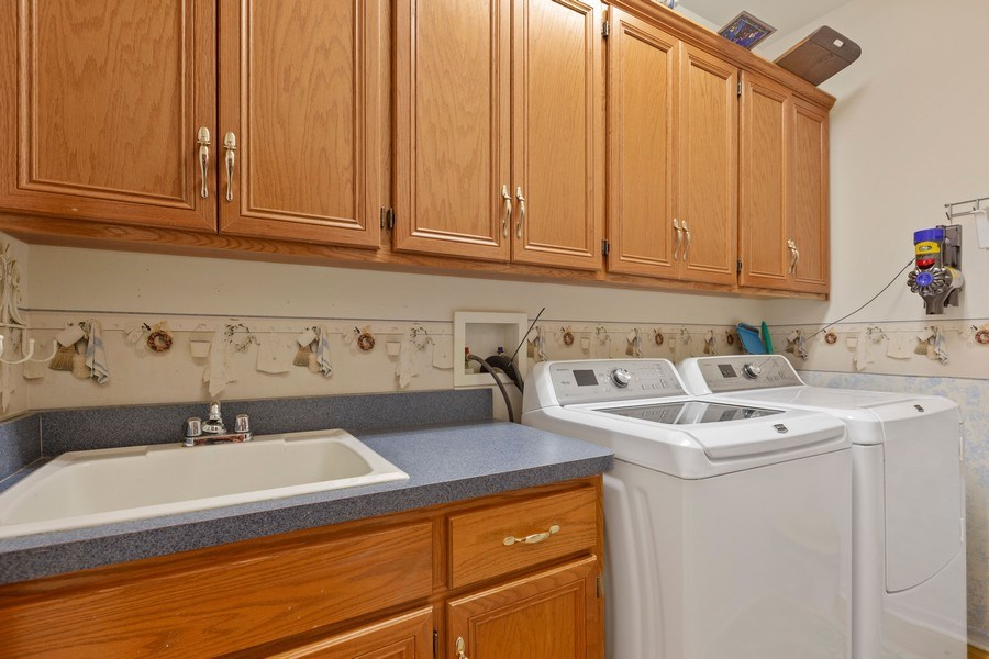 Real Estate Photography - 21685 Cappel Ln, Frankfort, IL, 60423 - Laundry Room