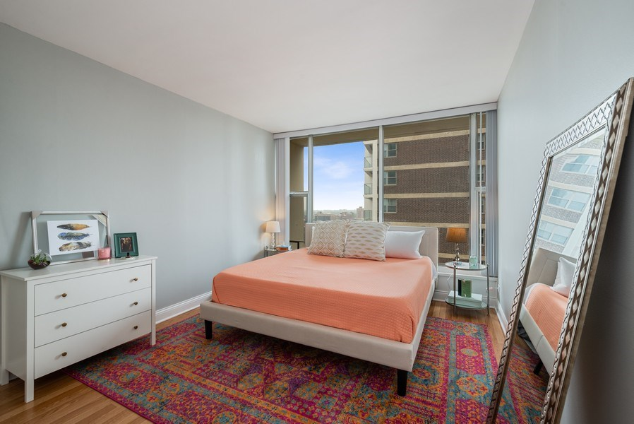 Real Estate Photography - 3200 N LAKE SHORE DRIVE, 2003, CHICAGO, IL, 60657 - Bedroom