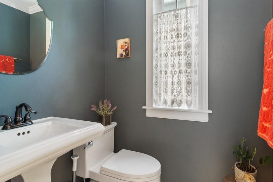 Real Estate Photography - 222 S Albert St, Mount Prospect, IL, 60056 - Half Bath