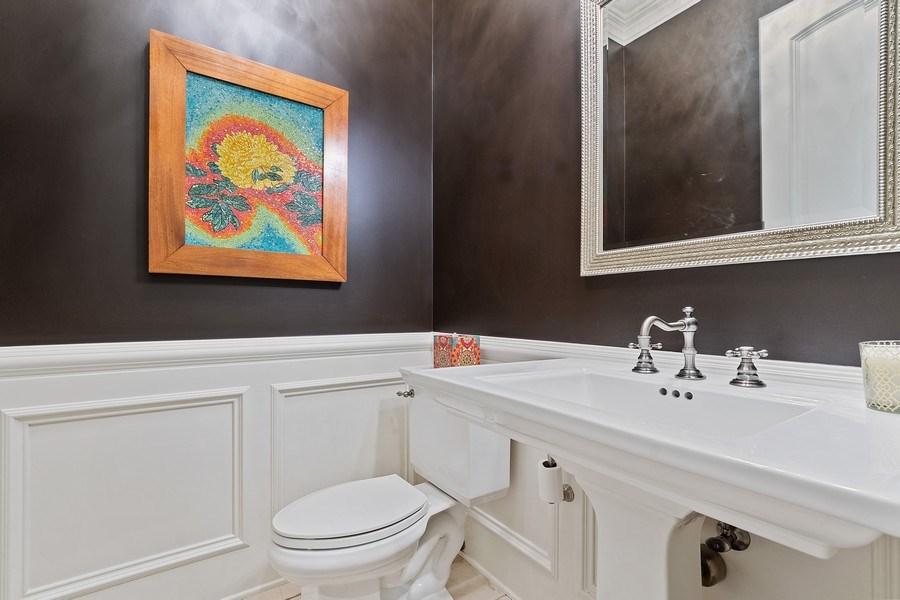 Real Estate Photography - 205 Laurel, Highland Park, IL, 60035 - Powder Room