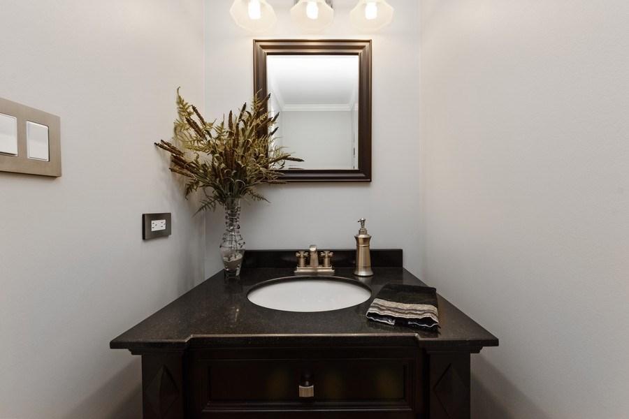 Real Estate Photography - 376 N Oak Hill Road, Lake Barrington, IL, 60010 - Powder Room