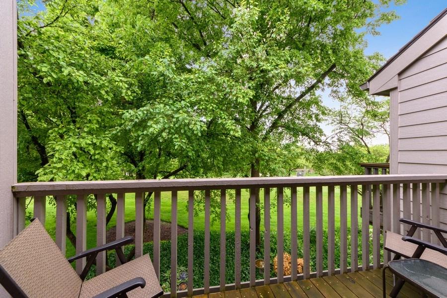 Real Estate Photography - 376 N Oak Hill Road, Lake Barrington, IL, 60010 - Balcony