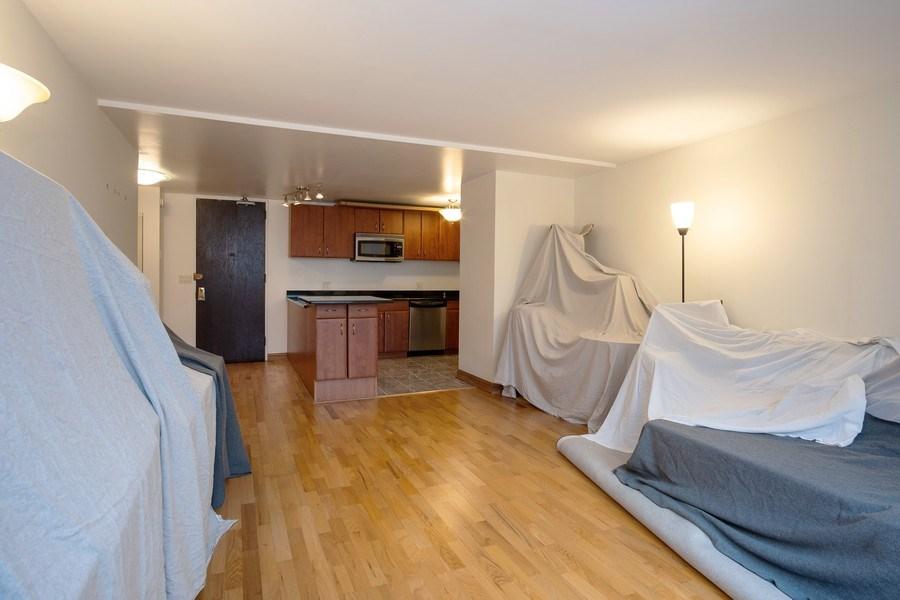 Real Estate Photography - 233 E. Erie St., Unit 2205, Chicago, IL, 60611 - Kitchen / Living Room