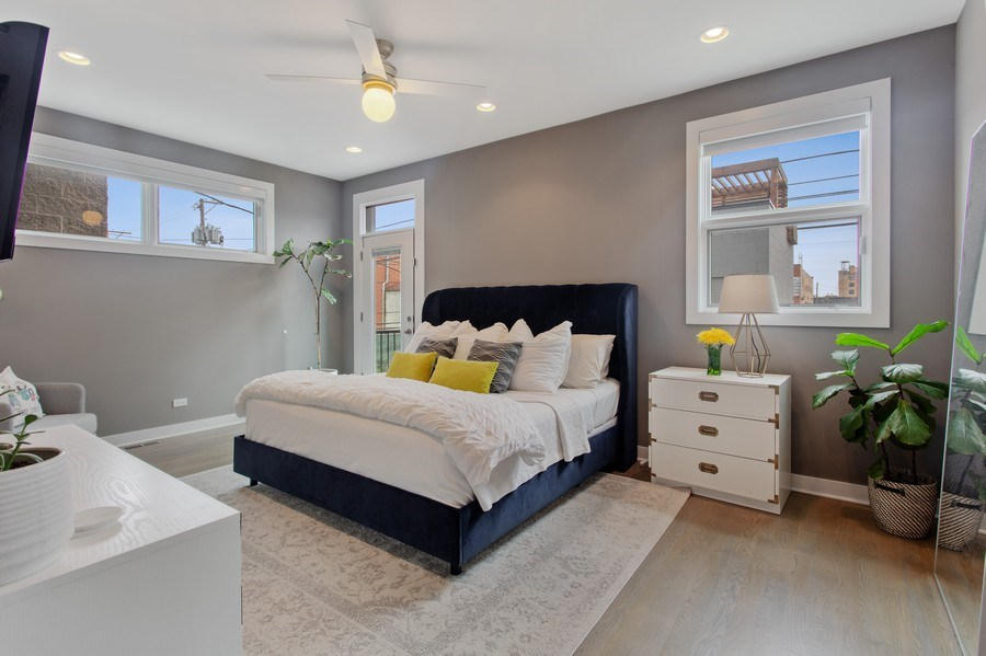 Real Estate Photography - 1459 W Grand Ave, 1, Chicago, IL, 60642 - Master Bedroom