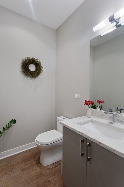 Real Estate Photography - 1459 W Grand Ave, 1, Chicago, IL, 60642 - Powder Room