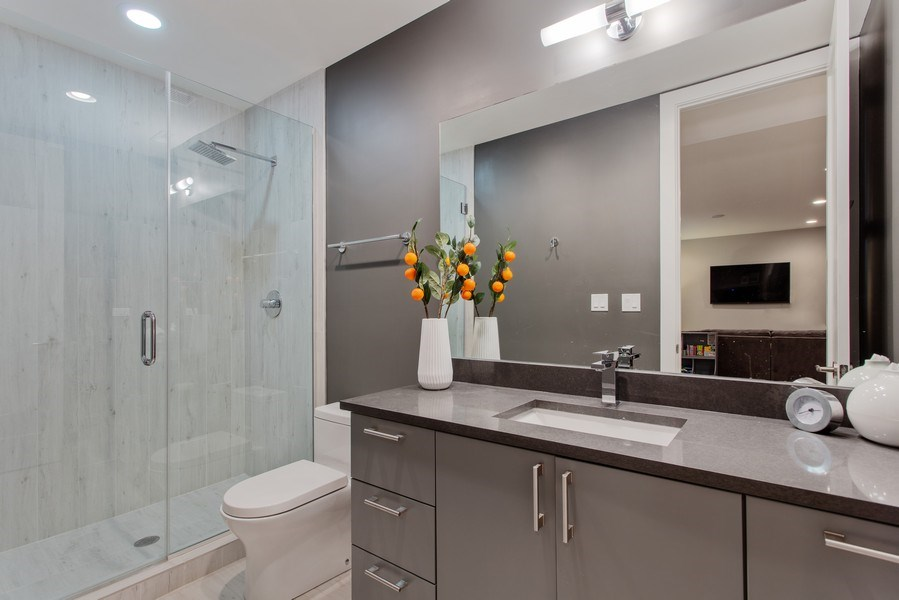 Real Estate Photography - 1459 W Grand Ave, 1, Chicago, IL, 60642 - Bathroom