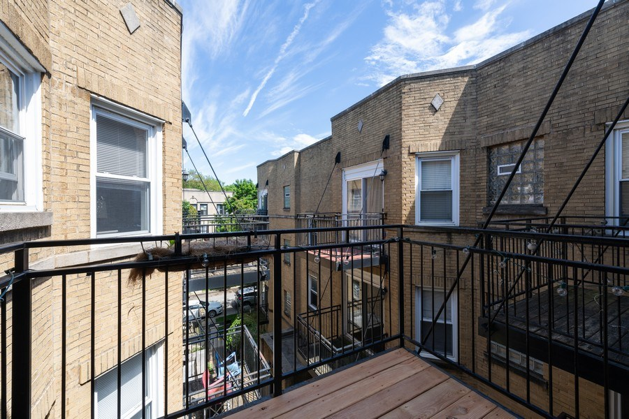 Real Estate Photography - 7054 N Damen Ave, Unit 3, Chicago, IL, 60626 - Balcony