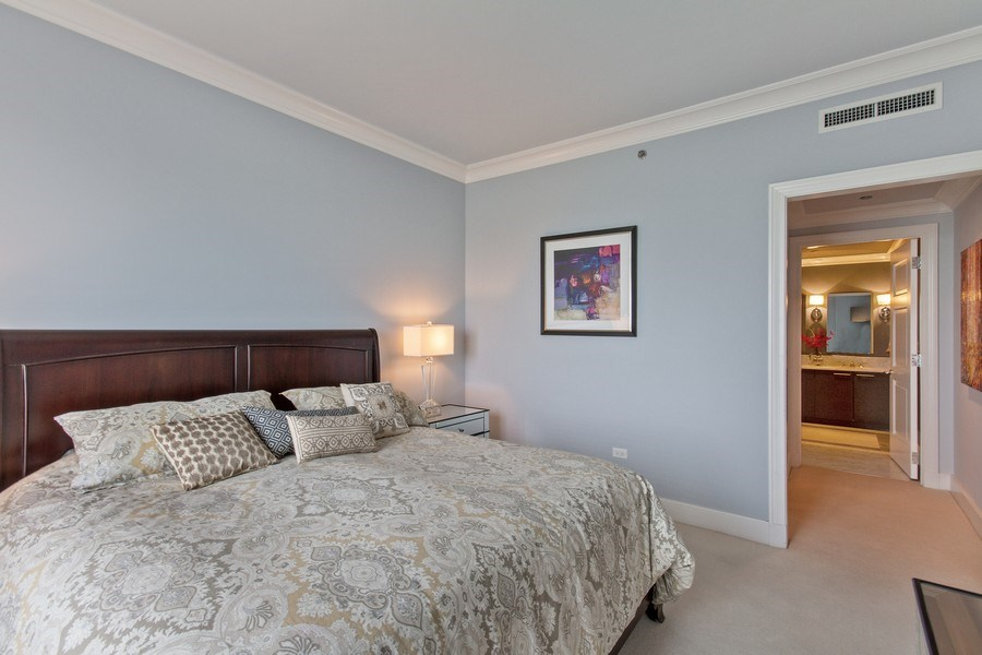 Real Estate Photography - 2550 N Lakeview, N703, Chicago, IL, 60614 - Master Bedroom