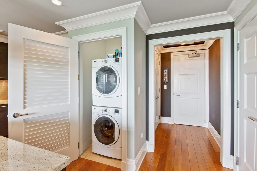 Real Estate Photography - 2550 N Lakeview, N703, Chicago, IL, 60614 - In unit Laundry