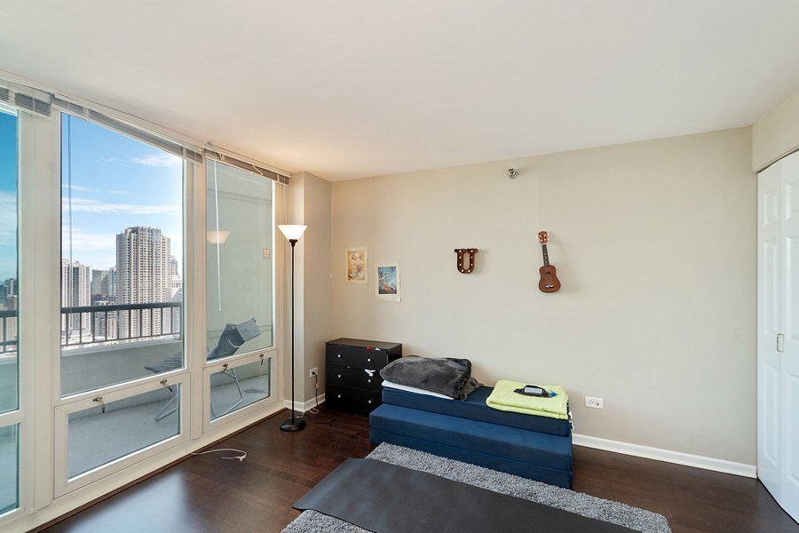 Real Estate Photography - 345 N LaSalle, unit 4602, Chicago, IL, 60654 - 2nd Bedroom