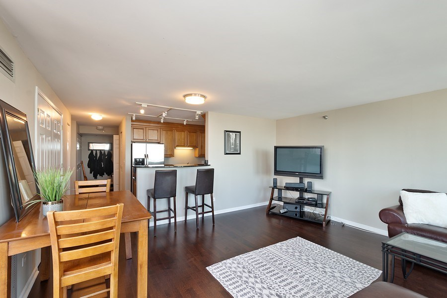 Real Estate Photography - 345 N LaSalle, unit 4602, Chicago, IL, 60654 - Living Room