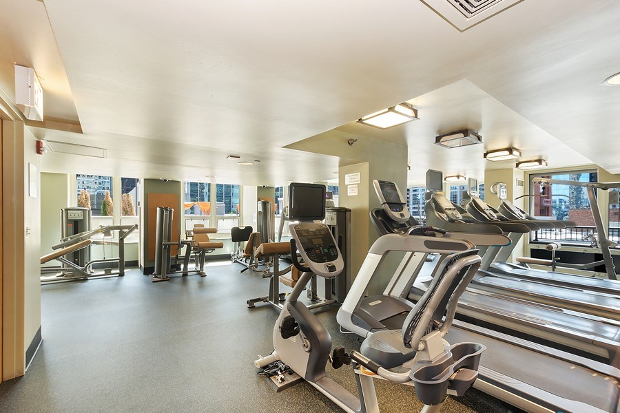 Real Estate Photography - 345 N LaSalle, unit 4602, Chicago, IL, 60654 - Fitness Center