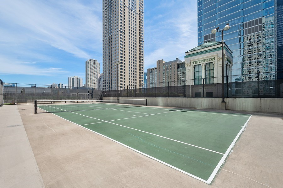 Real Estate Photography - 345 N LaSalle, unit 4602, Chicago, IL, 60654 - Tennis Court