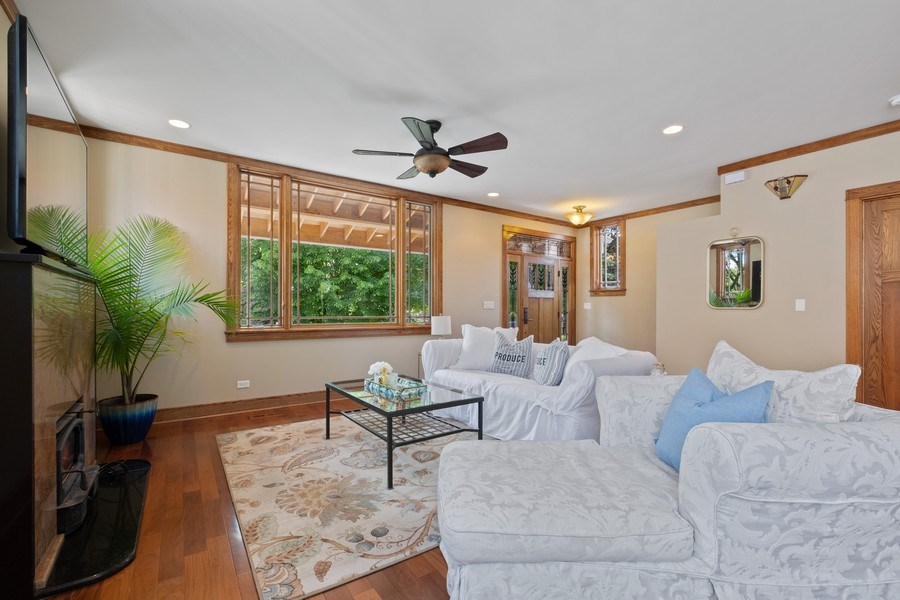 Real Estate Photography - 451 Broadview, Highland Park, IL, 60035 - Family Room