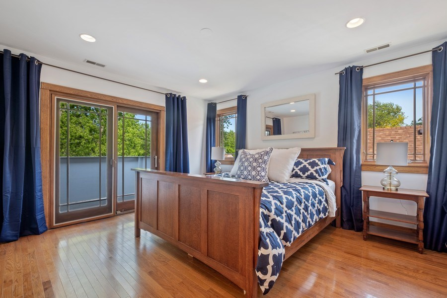 Real Estate Photography - 451 Broadview, Highland Park, IL, 60035 - Master Bedroom