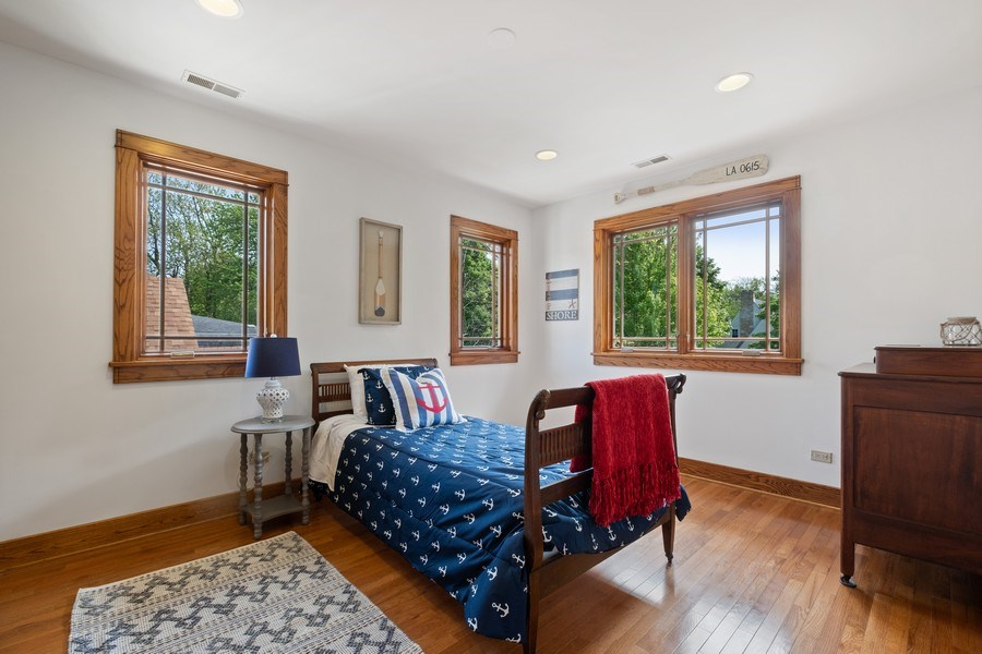 Real Estate Photography - 451 Broadview, Highland Park, IL, 60035 - 2nd Bedroom