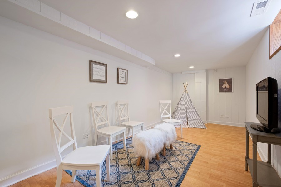 Real Estate Photography - 451 Broadview, Highland Park, IL, 60035 - Recreational Room