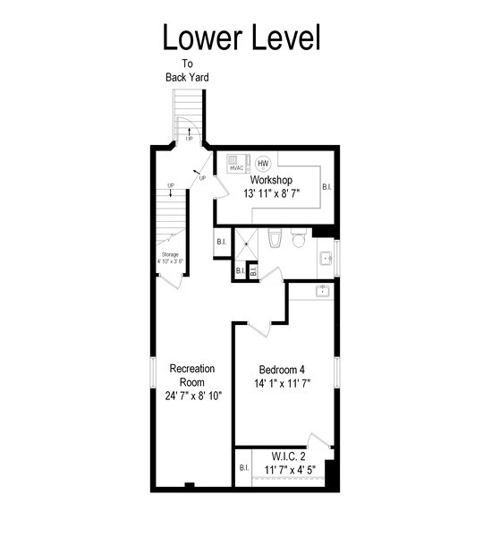 Real Estate Photography - 451 Broadview, Highland Park, IL, 60035 - Floor Plan