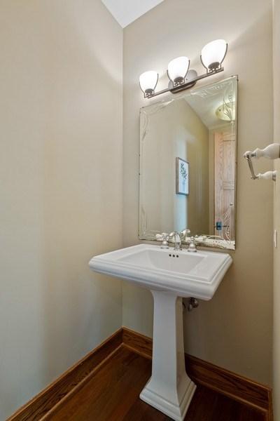 Real Estate Photography - 451 Broadview, Highland Park, IL, 60035 - Half Bath