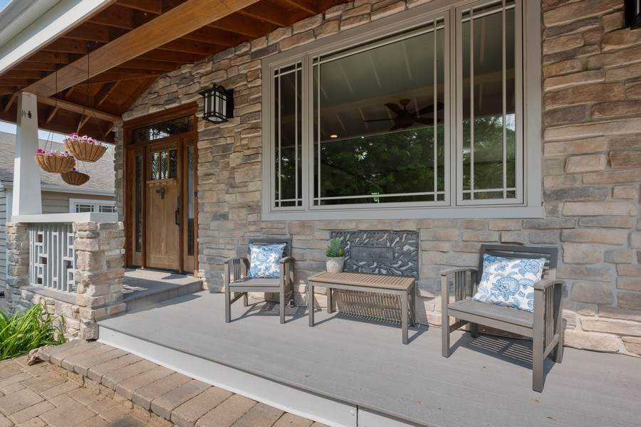 Real Estate Photography - 451 Broadview, Highland Park, IL, 60035 - Front Porch