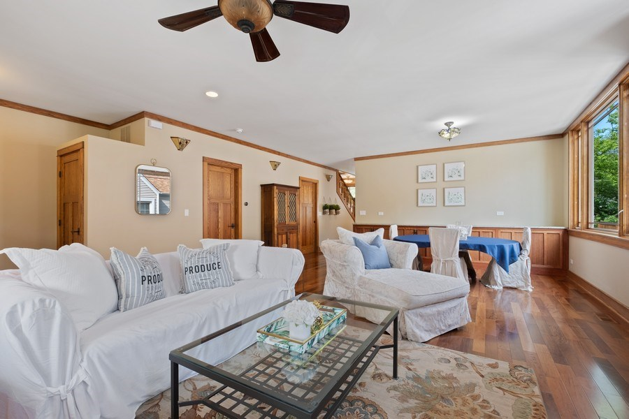 Real Estate Photography - 451 Broadview, Highland Park, IL, 60035 - Family Room/Dining Room