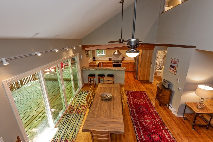 Real Estate Photography - 401 E Madison Ave, New Buffalo, MI, 49117 - Kitchen/Dining/Living