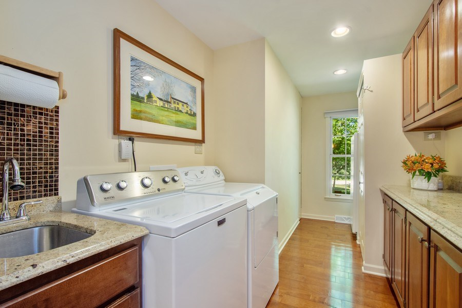Real Estate Photography - 308 Grayfriars Ln, Inverness, IL, 60067 - Butler's Pantry/Laundry Room