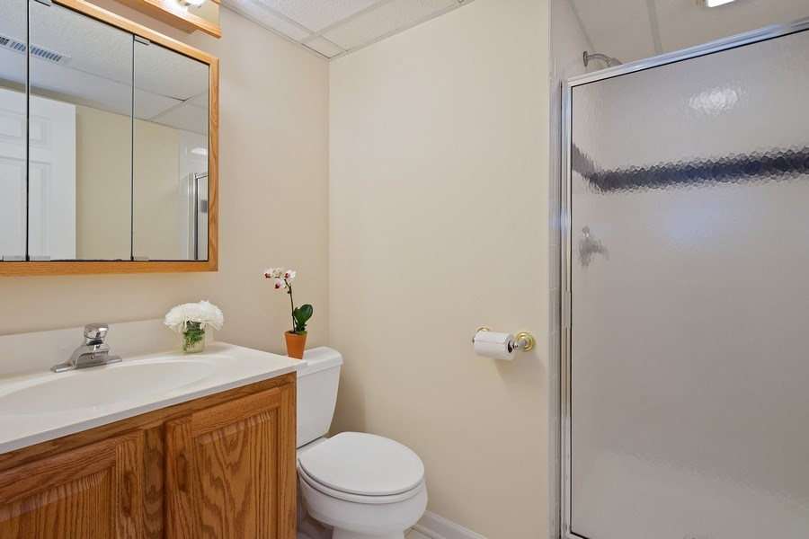 Real Estate Photography - 664 Oak Rd, Barrington, IL, 60010 - Basement Bathroom