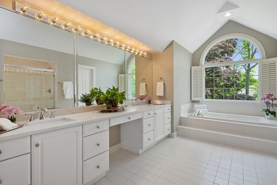 Real Estate Photography - 664 Oak Rd, Barrington, IL, 60010 - Master Bathroom