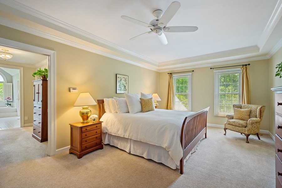Real Estate Photography - 664 Oak Rd, Barrington, IL, 60010 - Master Bedroom