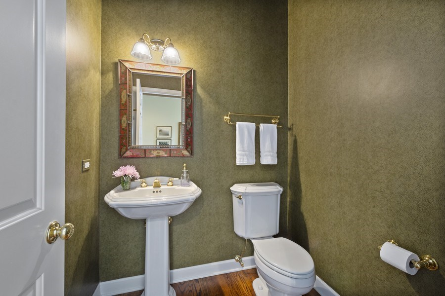 Real Estate Photography - 664 Oak Rd, Barrington, IL, 60010 - Powder Room