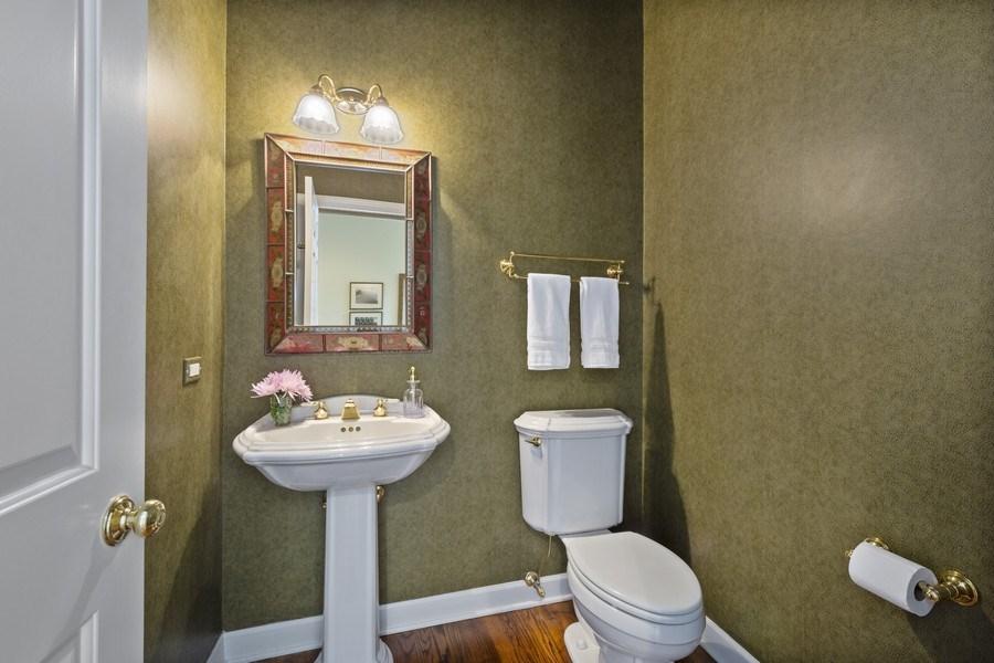Real Estate Photography - 664 Oak Rd, Barrington, IL, 60010 - Powder Room